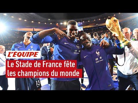 La France fête ses champions du monde au Stade de France - Foot - Bleus