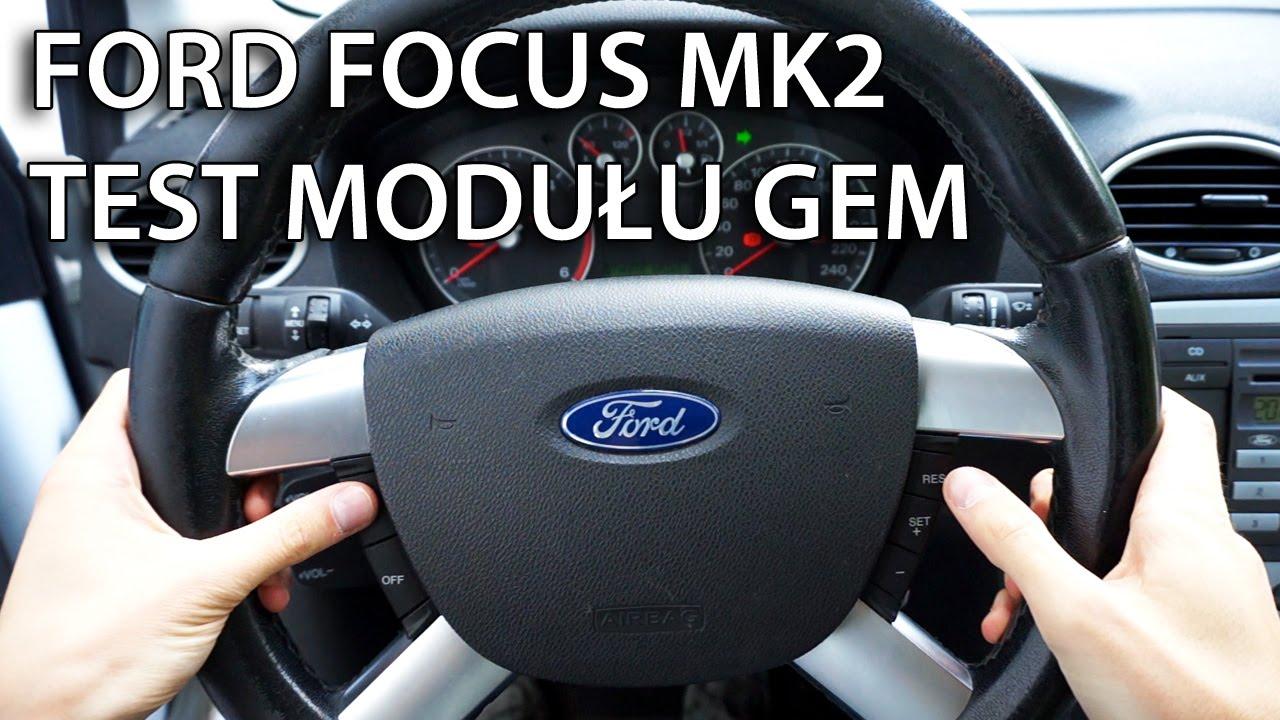 Air Bag Switch Box Wiring Diagram 9 Test Modułu Gem W Ford Focus Mk2 C Max Diagnostyka