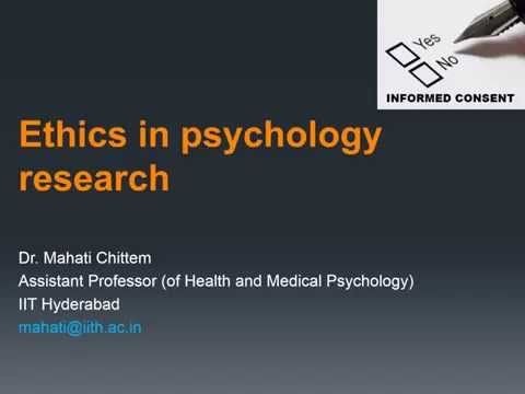 importance of ethics in psychology research