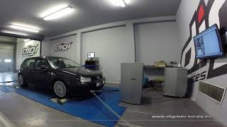 VW Golf 4 1.9 tdi 100cv Reprogrammation Moteur @ 131cv Digiservices Paris 77 Dyno