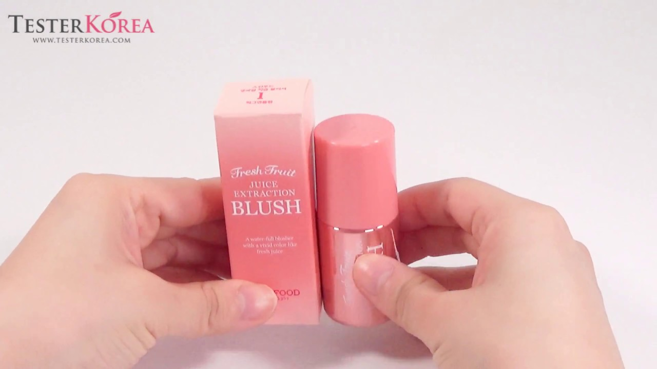 Testerkorea Skinfood Fresh Fruit Juice Extraction Blusher 01 Pig And Plum Youtube