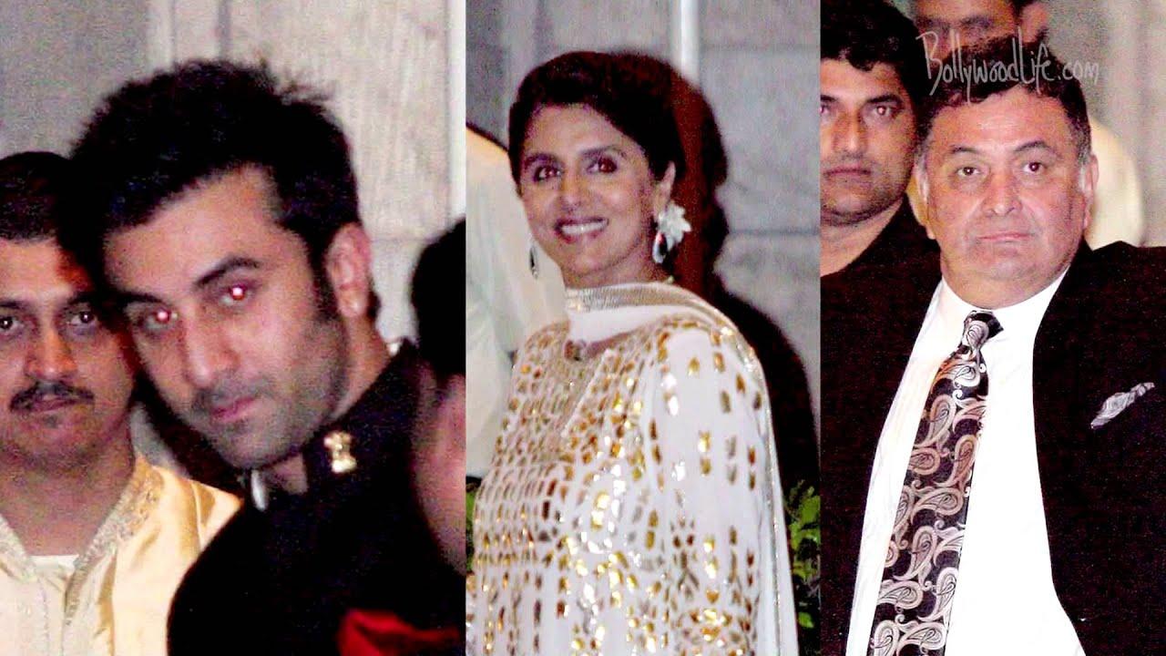 Saif Ali Khan Kareena Kapoor Wedding Reception Pics SRK Ranbir Anil Attend