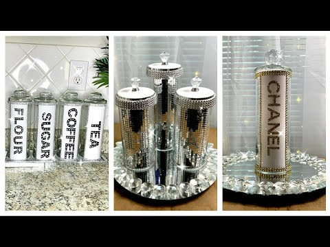 $2-glam-diy-dollar-tree-kitchen-canisters-|-makeup-brush-holder-|-glam-decor-|-elegant-decor