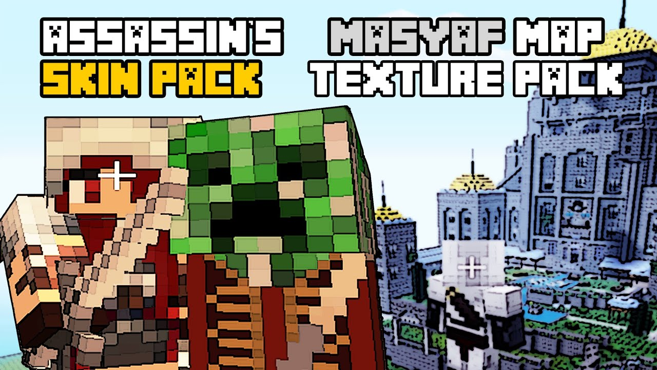 TU Assassins Creed Skin Pack Texture Pack Masyaf - Skin para minecraft pe de assassins creed