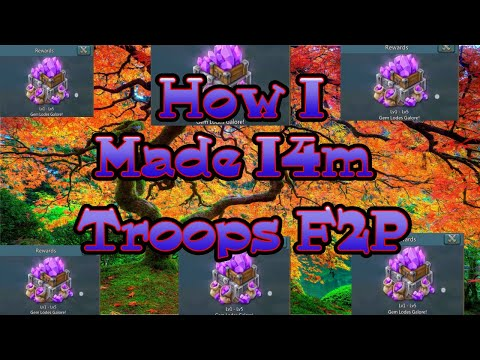HOW Did I Build 14m Troops F2p? Hyper Farms! Food Farm Overview.