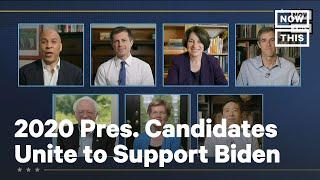 2020 Democratic Presidential Candidates Reunite to Support Biden | NowThis