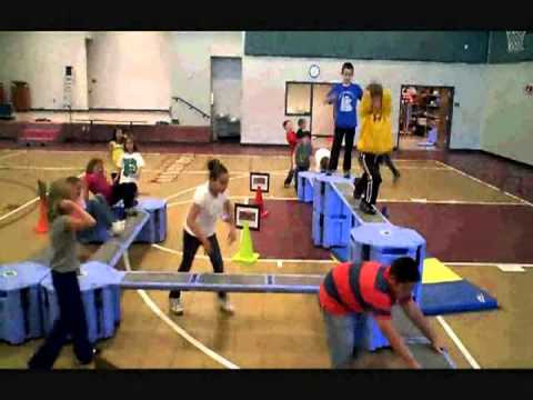 Obstacle Course For Children And Kids Fitness Exercise