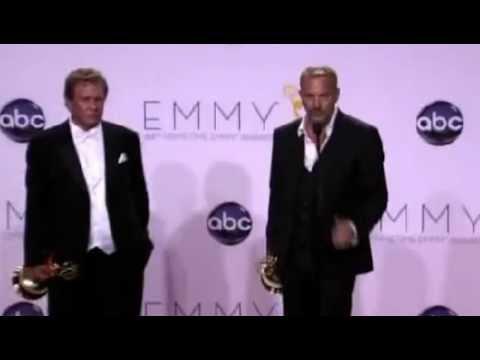 Kevin Costner & Tom Berenger Backstage at The Emmys / Press Room