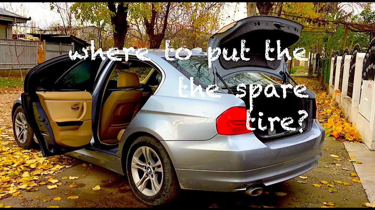 21284715d028 BMW e90 Where to put the spare tire  ! Problem SOLVED ! - YouTube