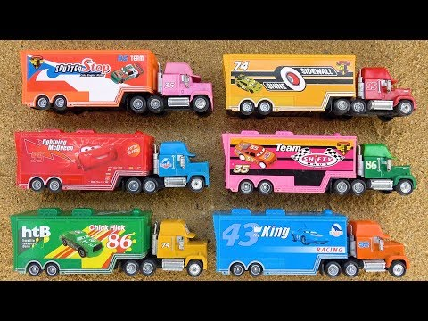 Learn Colors Disney Pixar Cars 3 Lightning Mcqueen Mack Truck With Toy For Children | Cars For Kids