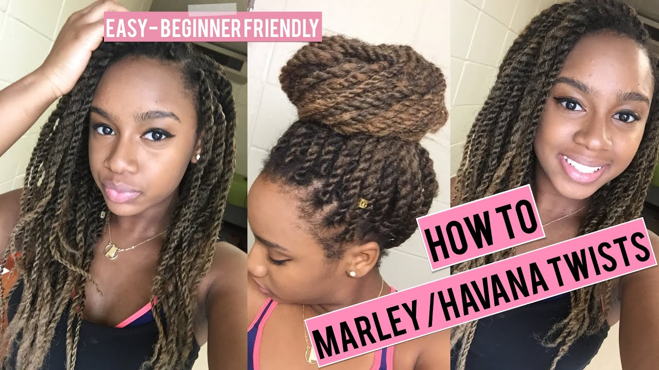 How To Do Havana Marley Twists Super Easy Tutorial