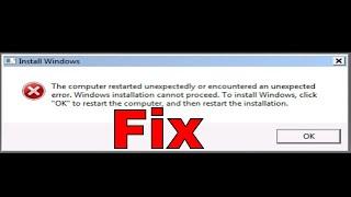 The Computer Restarted Unexpectedly or Encountered an Unexpected Error Windows 10