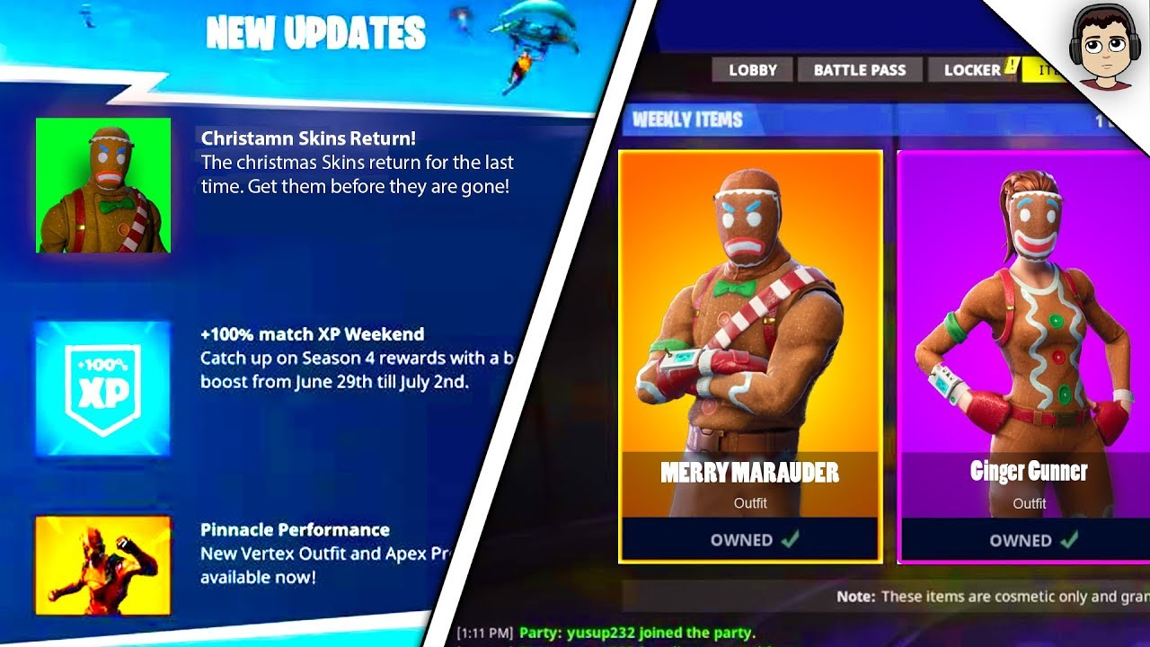 All Christmas Skins Fortnite.Fortnite All Christmas Skins Coming Back Thecannonball Org