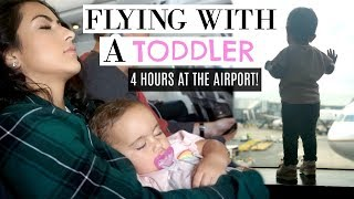 TIPS | FLYING WITH A TODDLER 101 | DELAYED AT THE AIRPORT! | XoJuliana