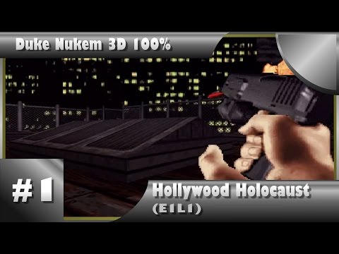 Duke Nukem 3D 100% Walkthrough: Hollywood Holocaust (E1L1) [All Secrets]