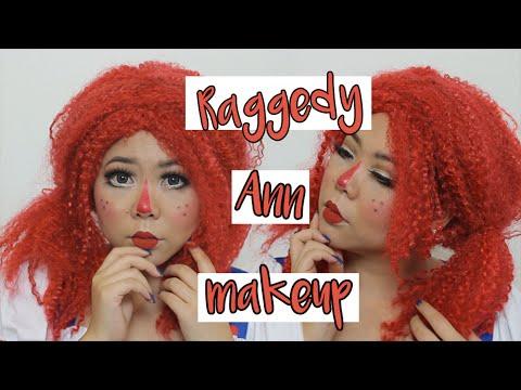 Raggedy Ann/Doll Full Glam Tutorial   MakeupANNimal