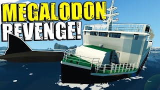 We Got Revenge on a Megalodon that Sank Our Ship! - Stormworks Multiplayer Survival