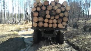 ЗиЛ-лесовоз,бездорожье,ЖЕСТЬ!!!!