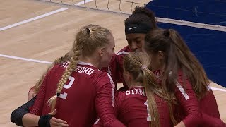 Recap: No. 2 Stanford women's volleyball opens Pac-12 play with Big Spike sweep