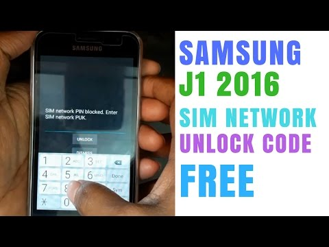 Samsung j1 6 sim network unlock code free | sm-j120f unlock code free ( j1 2016) | 2017