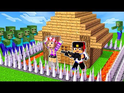 Майнкрафт но НУБ и ПРО Построили Защищенный Дом от ЗОМБИ в Майнкрафте Троллинг Ловушка Minecraft