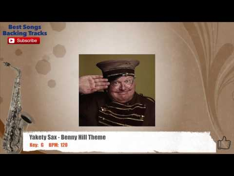 Yakety Sax - Benny Hill Theme Sax / Guitar SOLO Backing Track