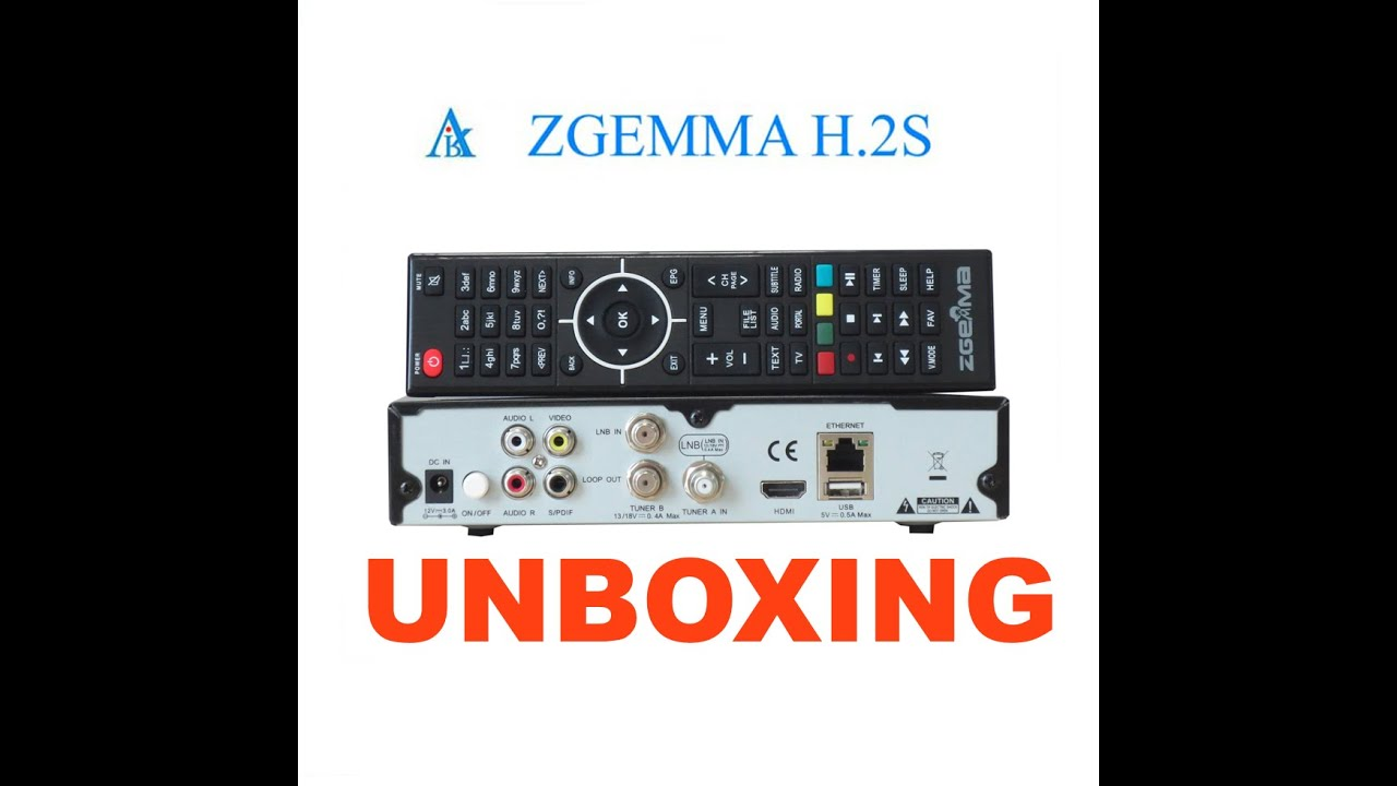 Unboxing New Zgemma Star H 2S / SAT-HD x2 / Enigma2 / 1080p
