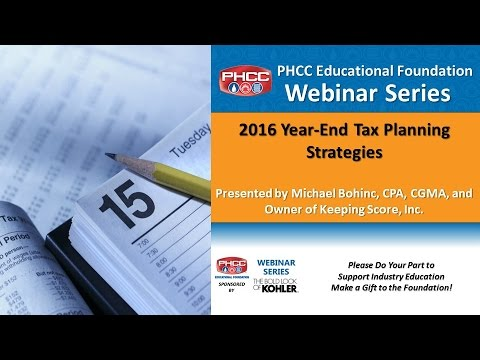 2016 Tax Planning Webinar