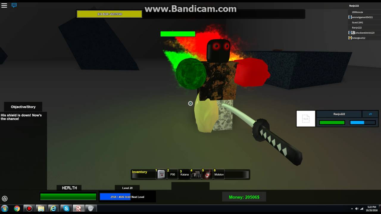 Undead Nation Roblox Roblox Undead Nation Boss Battle Xolbor Youtube