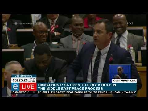 DA, EFF fight in parliament
