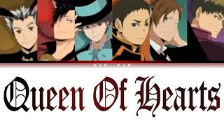 [Haikyu!!] Captains - Queen Of Hearts (cover) Lyrics color-coded (Kan_Rom_Eng)