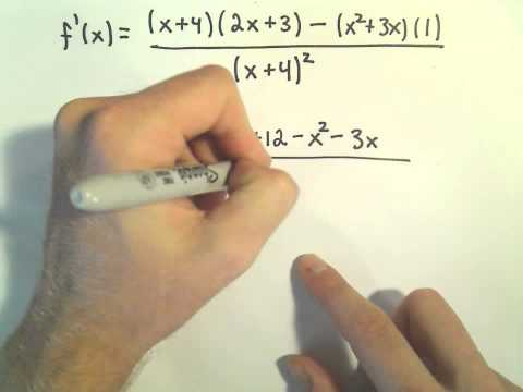Calculus: Quotient Rule and Simplifying