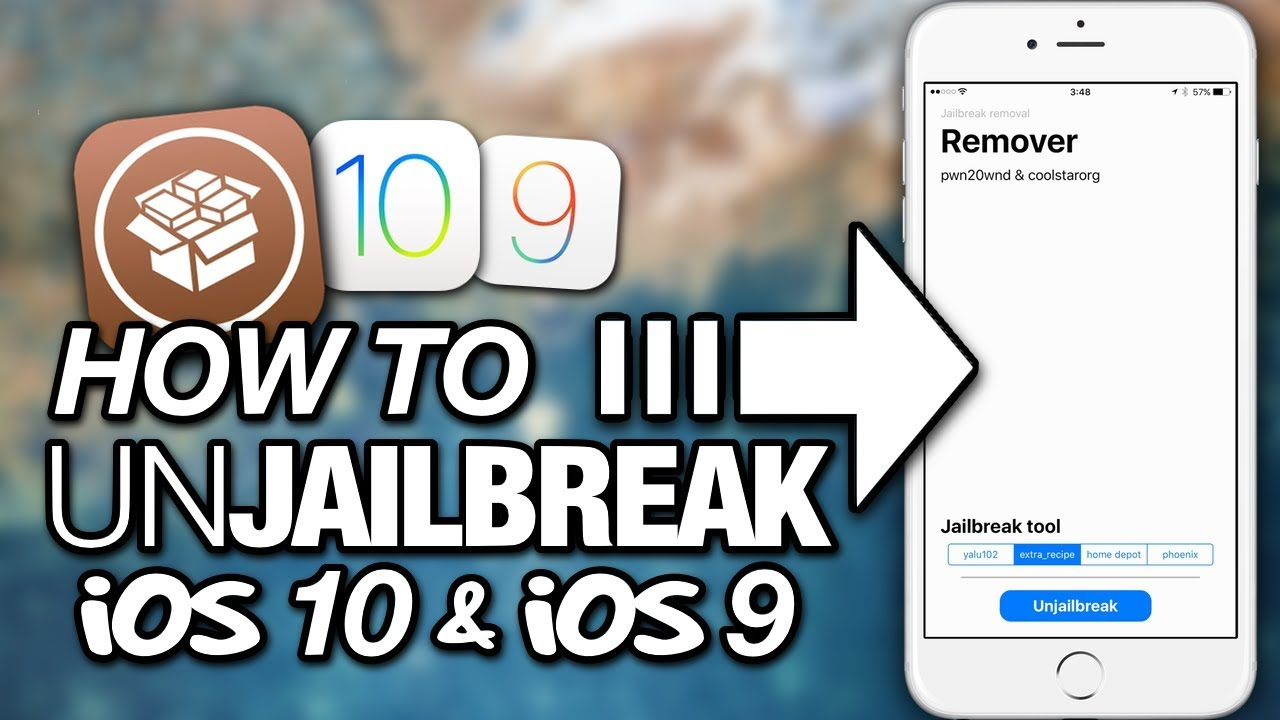 How To UNJAILBREAK iOS 10 & iOS 9 Without RESTORING Or UPDATING With Remover