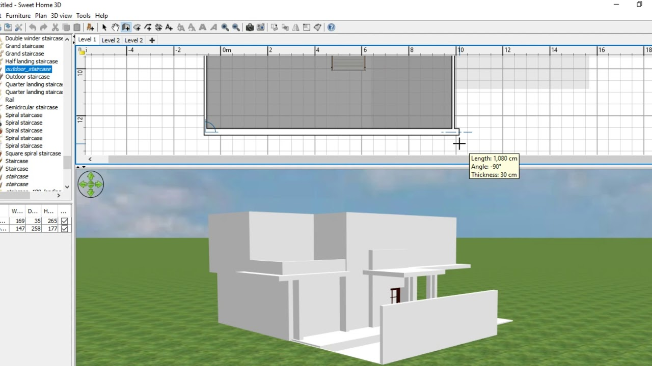 How to make modern house in sweet home 3d part 1