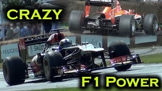 Formula 1 Crazy Rev Limiter Sound! Wheelspinning Action