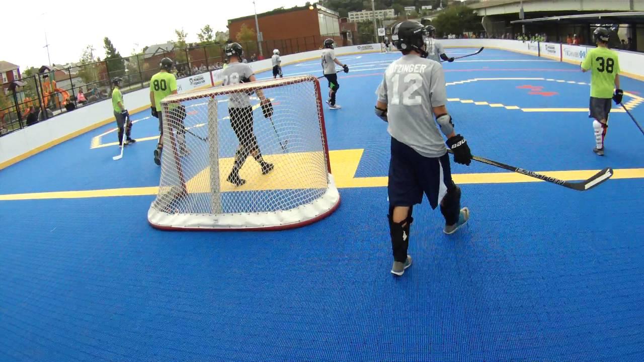 Brookline Dek Hockey Cadet Savs A Vs Pittsburgh Lightning 4 V 4