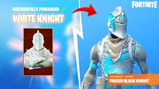 'WHITE KNIGHT' New Skin in Fortnite: battle royale?