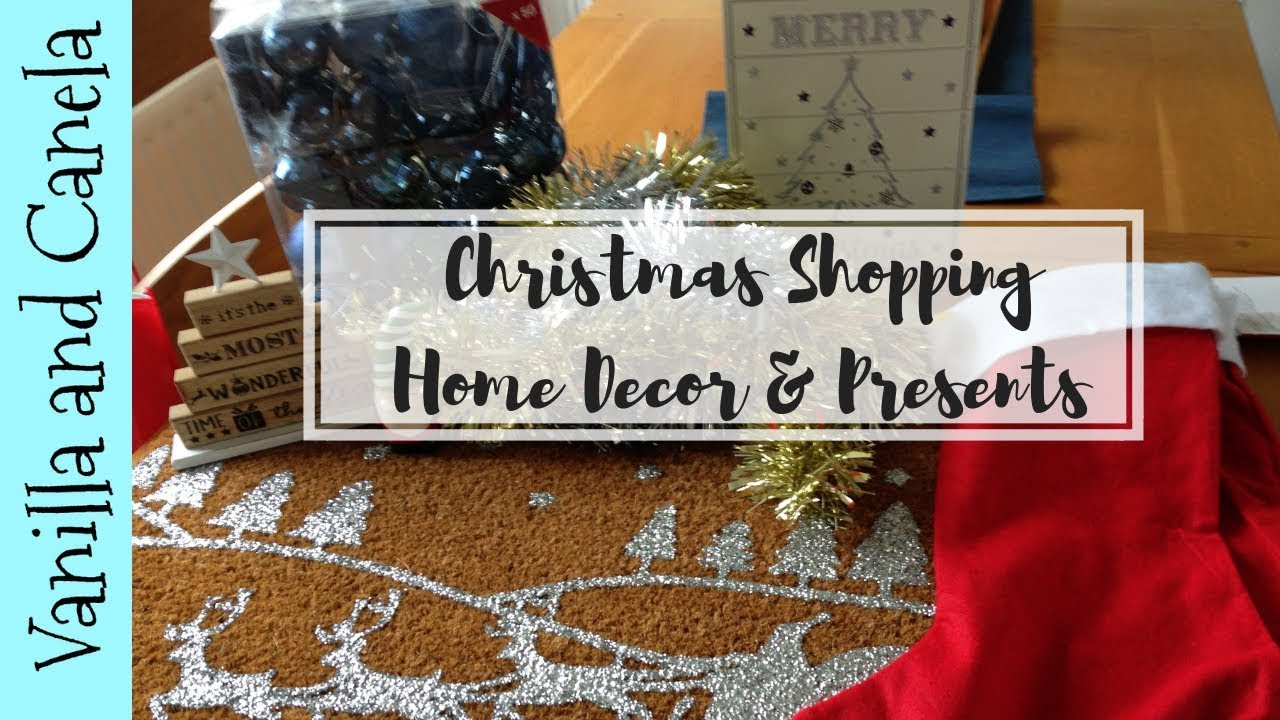 Christmas Shopping Hauls - Poundstretcher/B & Q/Next/Garden Centres