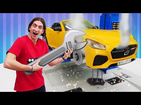 Классные игры для мальчиков. Ремонтный набор для машин Bruder! Познавательное видео мальчикам.