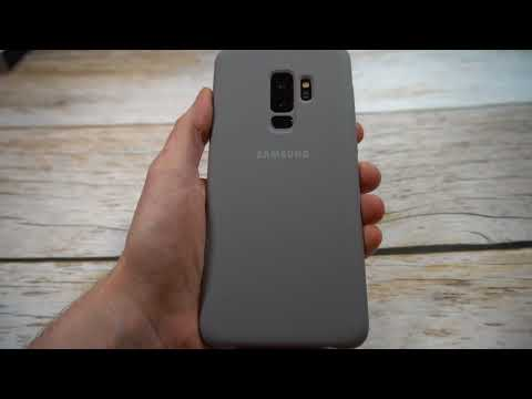 Official Samsung Galaxy S9+ Silicone Protective Case, Gray Review