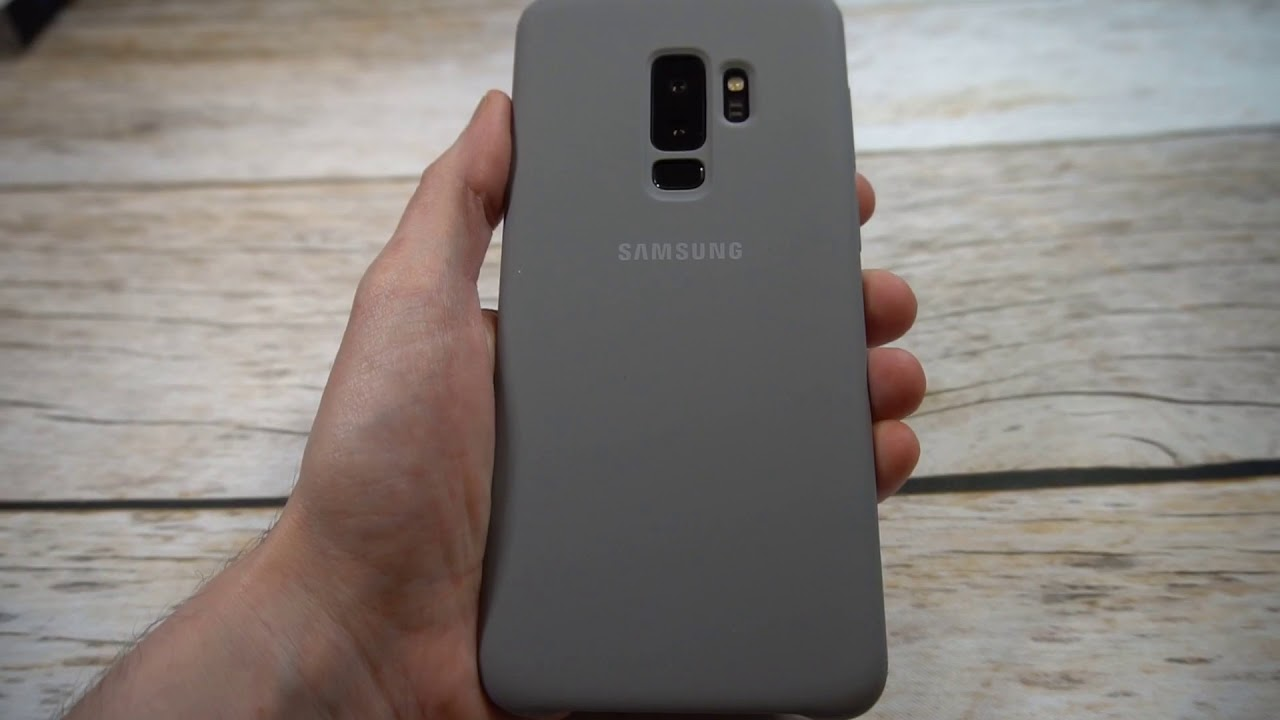 wholesale dealer 48936 2e2ec Official Samsung Galaxy S9+ Silicone Protective Case, Gray Review