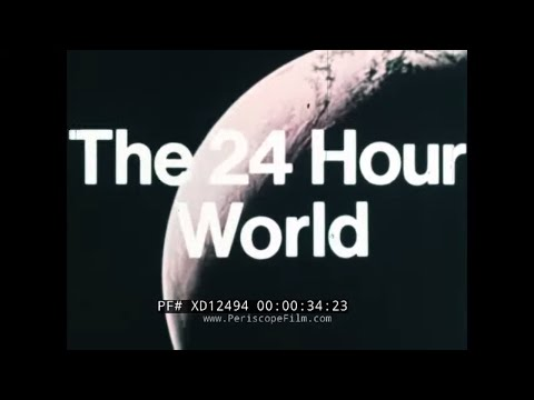 """""""THE 24 HOUR WORLD""""  1973 AEROSPATIALE / BAC CONCORDE SUPERSONIC AIRLINER PROMO FILM   XD12494"""