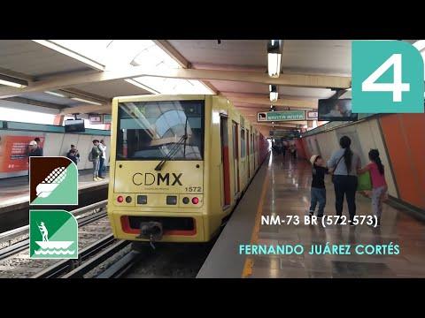 Metro CDMX - Línea 4 - De Jamaica a Santa Anita - NM-73 BR