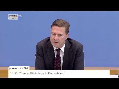 Flüchtlingstragödie: Regierungssprecher Steffen Seibert am 28.08.2015