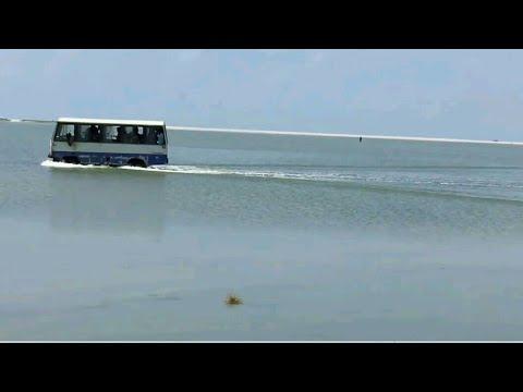 Crazy Bus ride over the ocean, rameshwaram, dhanushkodi | ram setu bridge(adam's bridge) | shockwave