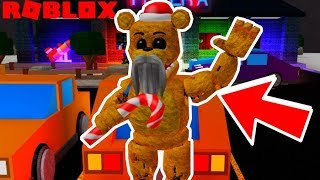 Finding Secret Badge Animatronic (Santa Freddy) in Roblox fnaf 6 Leftys Pizzeria Roleplay