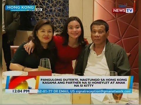 BT: Pang. Duterte, nagtungo sa Hong Kong kasama ang partner na si Honeylet at anak na si Kitty