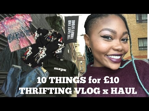 10 THINGS FOR £10 THRIFTING VLOG x HAUL