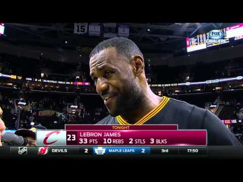 Cleveland Cavaliers teammates surprise LeBron James in postgame interview
