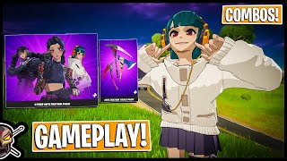 CYBER INFILTRATION PACK Gameplay + Combos! I Was SURPRISED (Fortnite Anime)